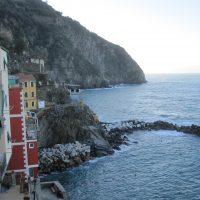 in Riomaggiore - Blick von der Terrasse an meinem Zimmer