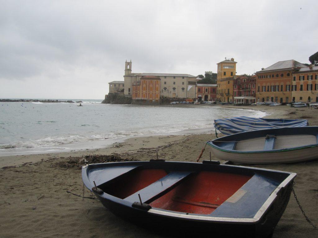 am Strand vor Sestri Levante