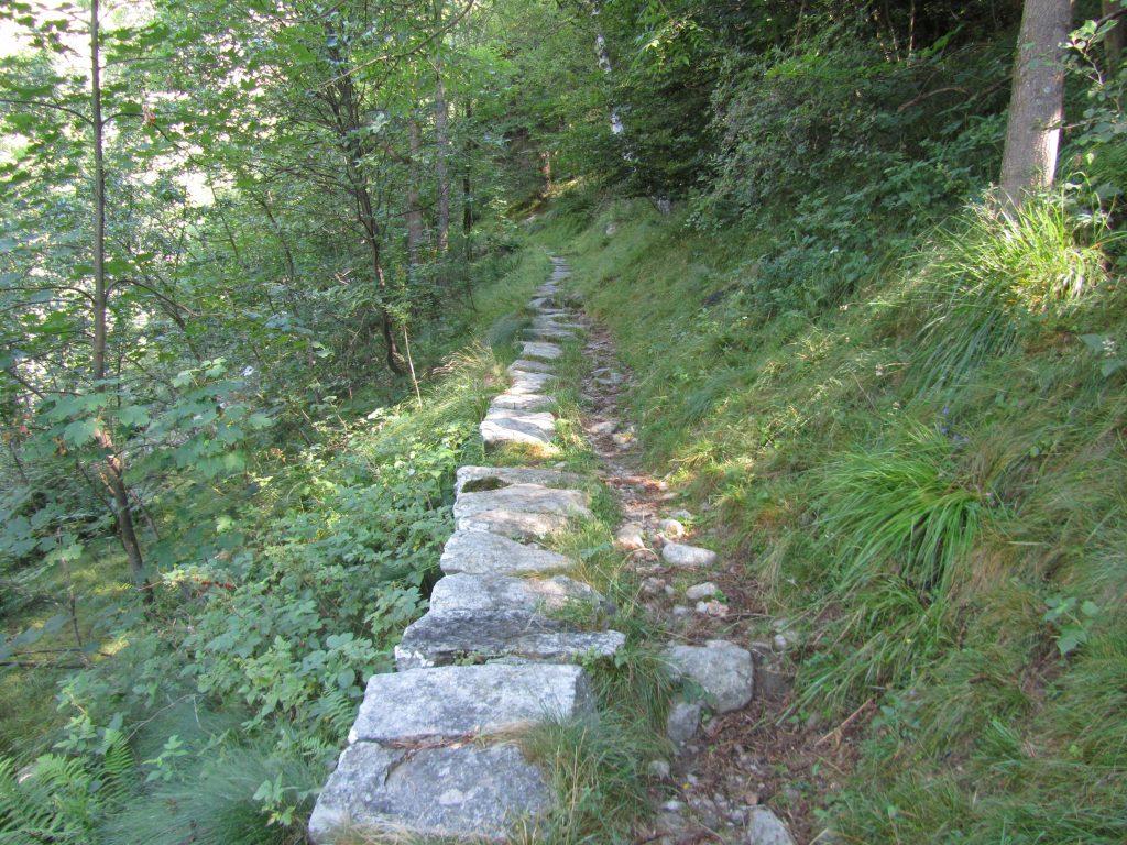 alte Pfade über Bergpässe im Piemont