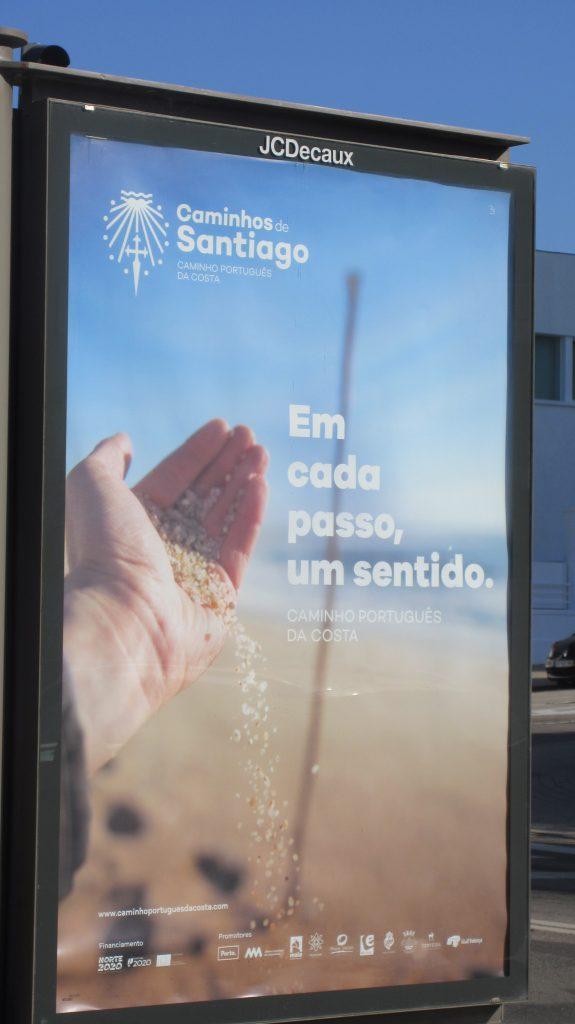 Werbplakat Camino ÜPortugues in Porto , 2018