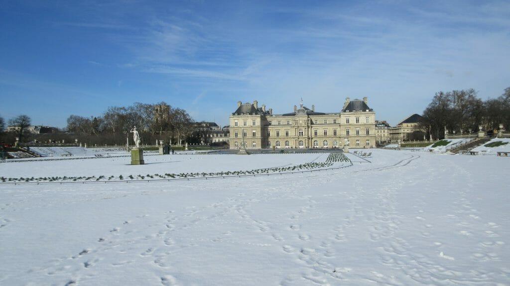 Paris bei Schnee- Jardin du Lusembourg