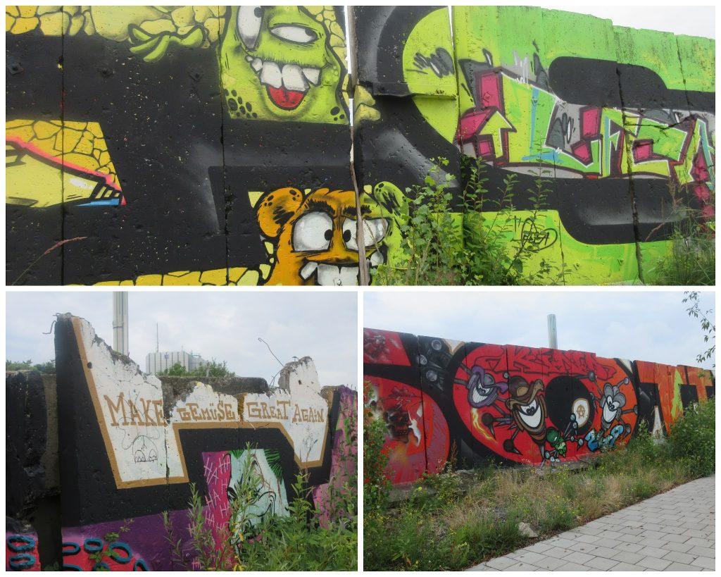 Grafittis am alten Mainhafen