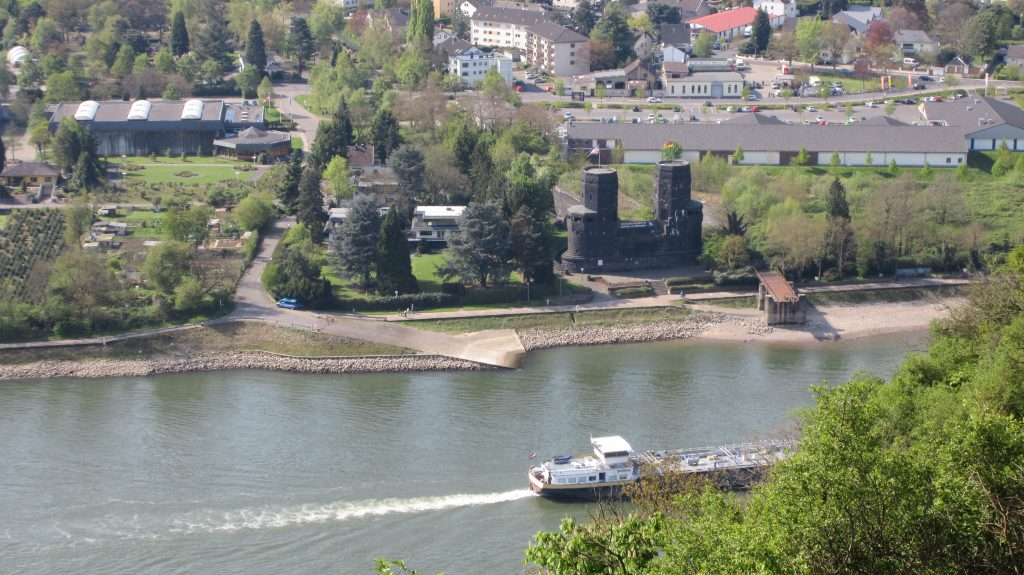 Die Brücke von Remagen - Blick von der Erpeler Ley